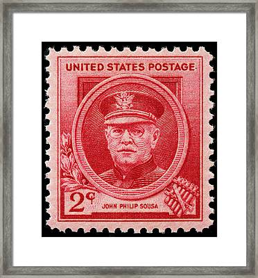 John Philip Sousa Postage Stamp Framed Print by James Hill