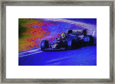 Framed Print featuring the mixed media John Player Special by Marvin Spates
