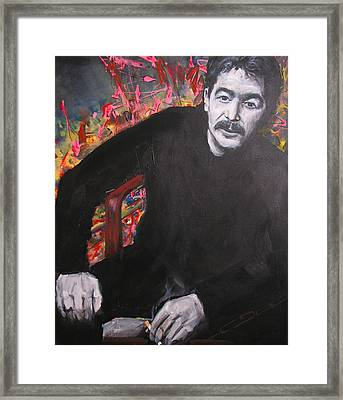 John Prine - Colors Framed Print by Eric Dee