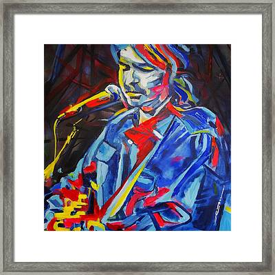 Framed Print featuring the painting John Prine #3 by Eric Dee