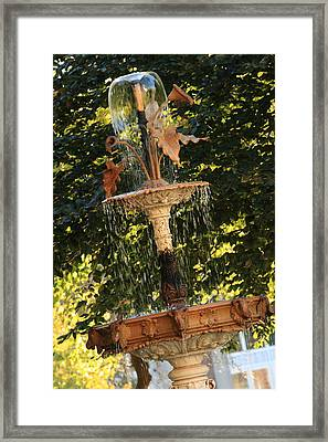 John Purdue Fountain In Color Framed Print by Coby Cooper