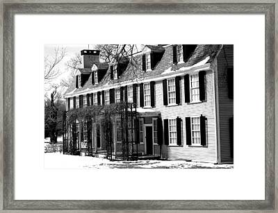 John Quincy Adams House Facade Framed Print by Heather Weikel