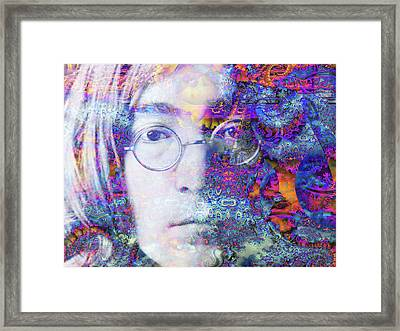 Framed Print featuring the digital art John by Robert Orinski