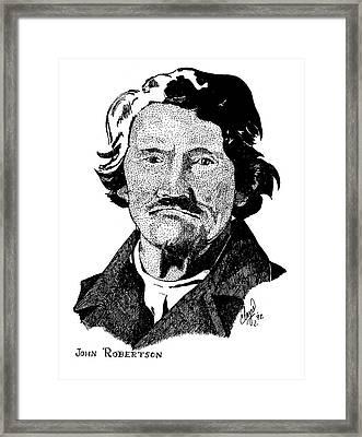 John Robertson Framed Print by Clayton Cannaday