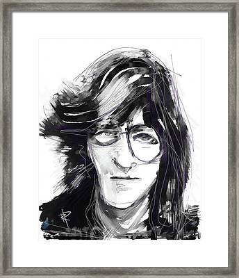 John Framed Print by Russell Pierce