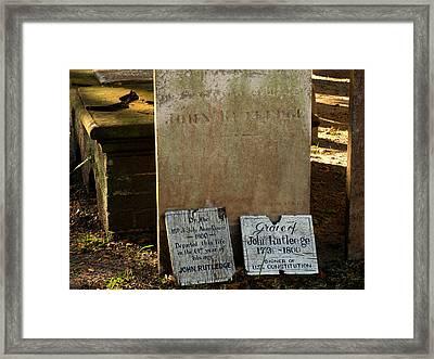 John Rutdledge Grave In Charleston Sc Framed Print