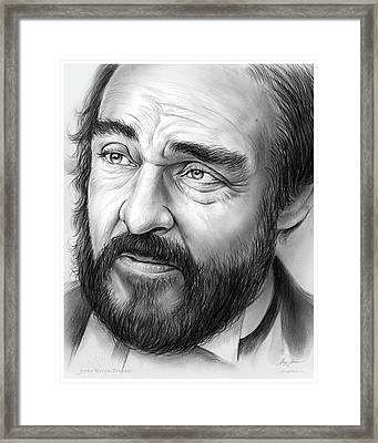 John Rys-davies Framed Print