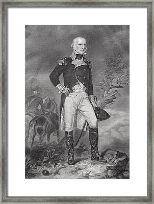 John Stark 1728-1822. American General Framed Print by Ken Welsh