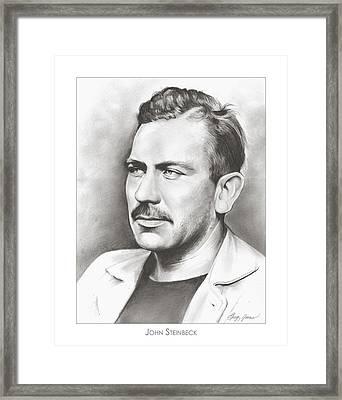 John Steinbeck Framed Print by Greg Joens