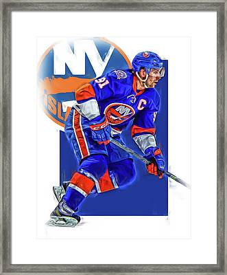 John Tavares New York Islanders Oil Art Series 1 Framed Print