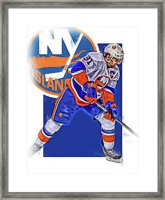 John Tavares New York Islanders Oil Art Series 2 Framed Print