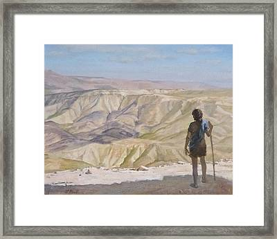 John The Baptist In The Desert Framed Print