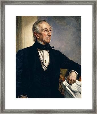 John Tyler Framed Print by George Peter Alexander Healy