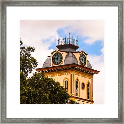 John W. Hargis Hall Clock Tower Framed Print