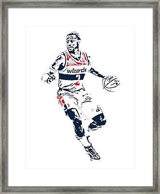 John Wall Washington Wizards Pixel Art 1 Framed Print