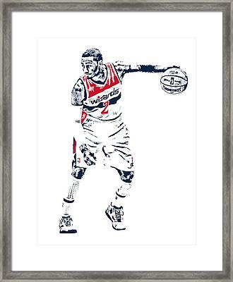 John Wall Washington Wizards Pixel Art 2 Framed Print