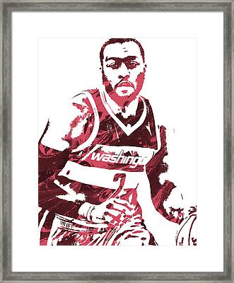 John Wall Washington Wizards Pixel Art 3 Framed Print