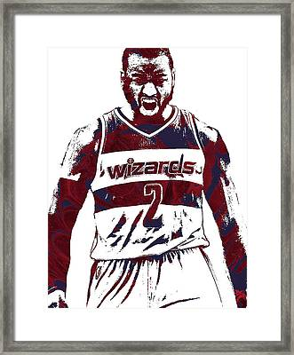 John Wall Washington Wizards Pixel Art 5 Framed Print