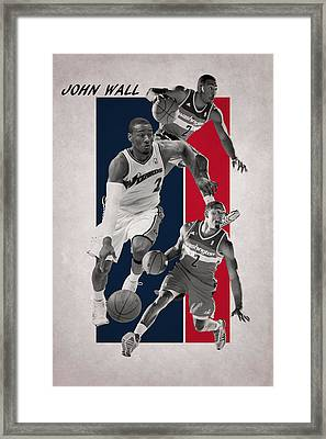John Wall Wizards Framed Print by Joe Hamilton