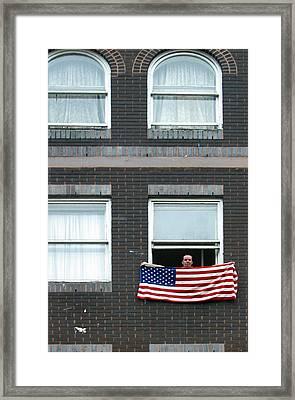 John Waves His Flag Framed Print by Jez C Self