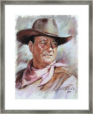 John Wayn Framed Print