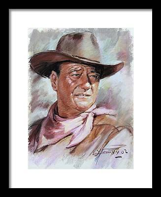 Cowboys Framed Prints