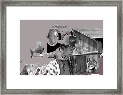 John Wayne And Director Howard Hawks  Alienated Rio Lobo Old Tucson Arizona 1970-2016 Framed Print