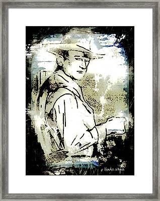 John Wayne Framed Print by Arline Wagner