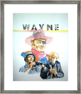 John Wayne Framed Print by Bryan Bustard