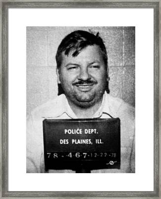 John Wayne Gacy Mug Shot 1980 Black And White Framed Print
