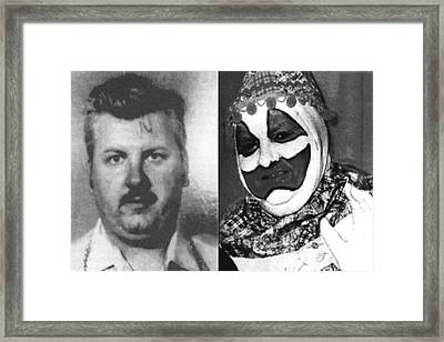 John Wayne Gacy Mug Shot Serial Killer And Clown 1980 Black And White Photo Framed Print