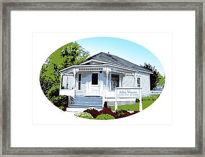 John Wayne Home Framed Print