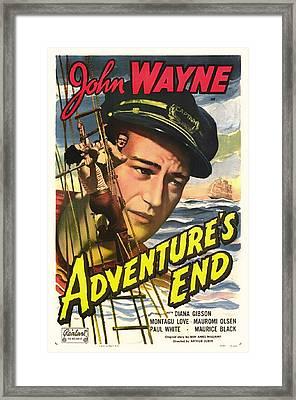 John Wayne In Adventure's End 1936 Framed Print by Mountain Dreams