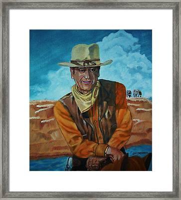 John Wayne Framed Print by Jeff Orebaugh