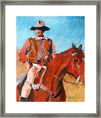 John Wayne Framed Print by Robert Bissett