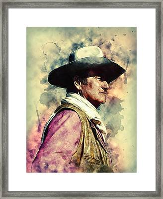 John Wayne Framed Print by Taylan Apukovska