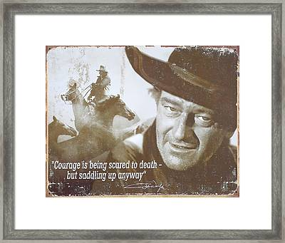 John Wayne - The Duke Framed Print by Donna Kennedy