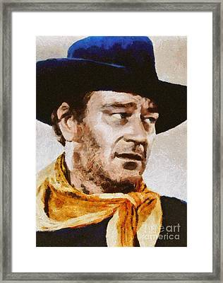 John Wayne, Vintage Hollywood Actor Framed Print