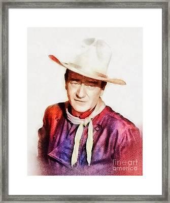 John Wayne, Vintage Hollywood Legend Framed Print