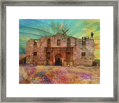 John Wayne's Alamo Framed Print by John Robert Beck