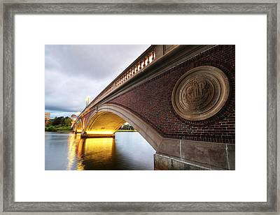 John Weeks Bridge Charles River Harvard Square Cambridge Ma Framed Print