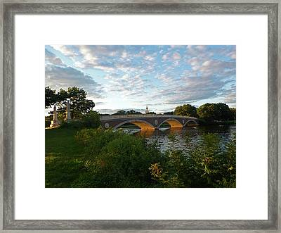 John Weeks Bridge In Harvard Square Cambridge Framed Print