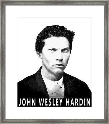 John Wesley Hardin Framed Print by Daniel Hagerman