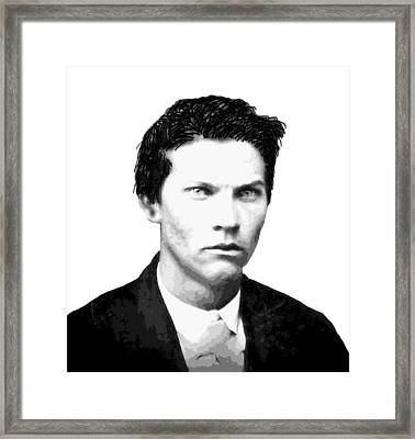 John Wesley Hardin Outlaw Legend Framed Print by Daniel Hagerman