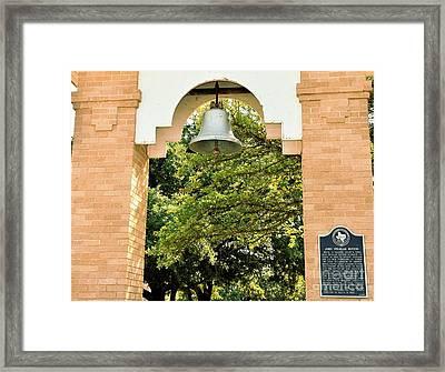 Framed Print featuring the photograph John Wheeler Bunton Historic Memorial by Ray Shrewsberry