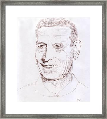John Wooden Framed Print