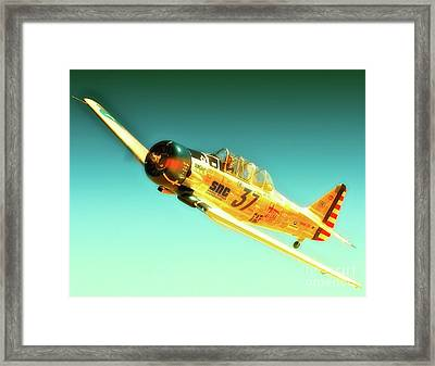 John Zayac And T-6 Race 37 Mcdonald Racer Framed Print