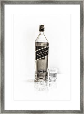Johnnie Walker Black Label Framed Print by Bill Tiepelman