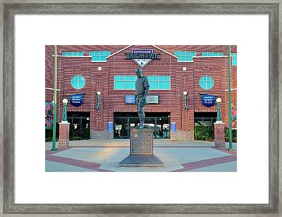 Johnny Bench Okc Framed Print by Frozen in Time Fine Art Photography