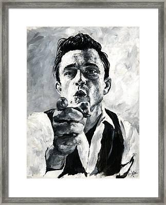 Johnny Cash II Framed Print